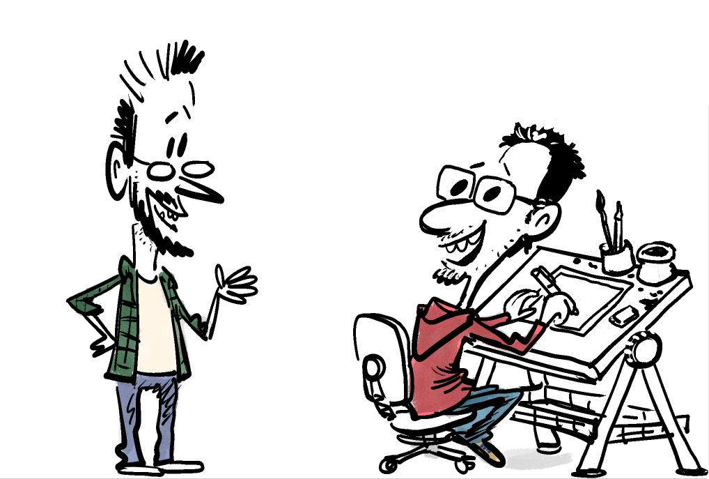 El equipo de viñetas Miki y Duarte